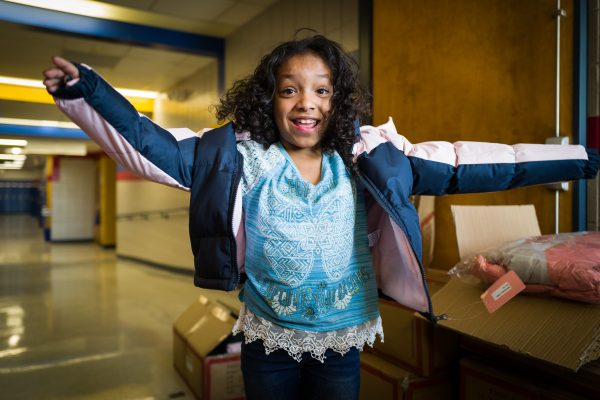 Operation Warm Donates Winter Coats to Oak Park Students